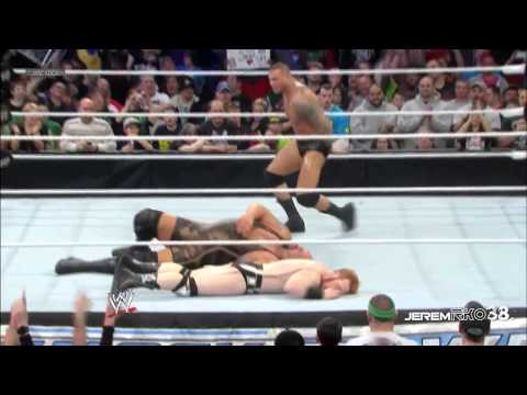 Randy Orton RKO on Big Show - Smackdown - March 8, 2013