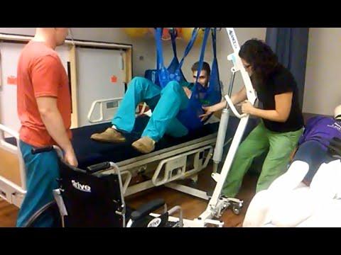 Manuel Hasta Taşıma (Kaldırma) Lifti Ile Tekerlekli Sandalyeye Transfer İşlemi