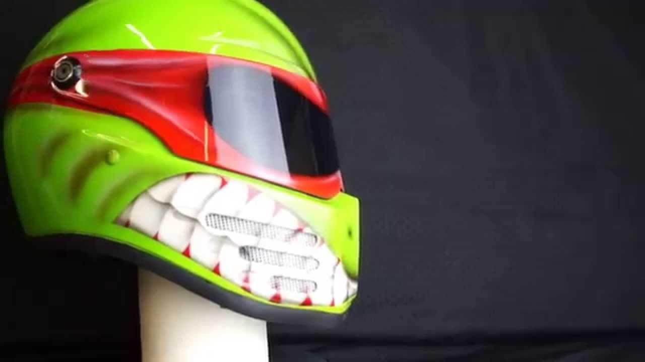 Custom Welding Helmets >> Custom Airbrushed Bandit Fighter helmet in Ninja Turtle ...