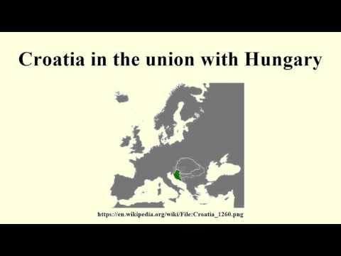 Croatia in the union with Hungary