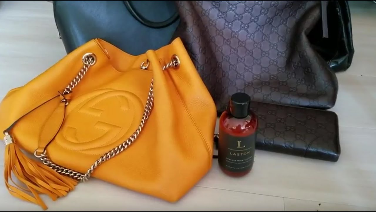 Part 1: LASTON Leather Moisturizer for Handbags & Wallets on Gucci ...