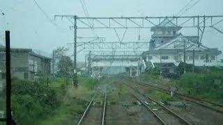 常磐線福島-宮城県境区間02(坂元→亘理~front window view) ※坂元-浜吉田間旧線