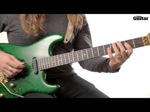 Guitar Lesson: Learn how to play Van Halen - Hot For Teacher verse riff (TG252)