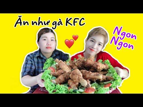Liễu Xì Ke và Mẹ Luyến Tiền Lẻ lần đầu làm thử Gà KFC. Ngon Nhắm nhắm || Liễu Liễu Vlog