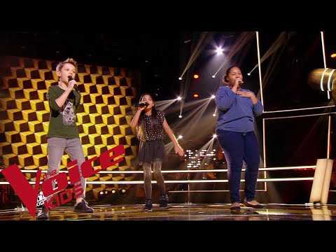 Vianney - Moi aimer toi | Rosie - Mano - Mélia | The Voice Kids France 2018 | Battles