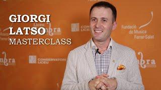 Masterclass amb Giorgi Latso - Cicle Liceu Cambra