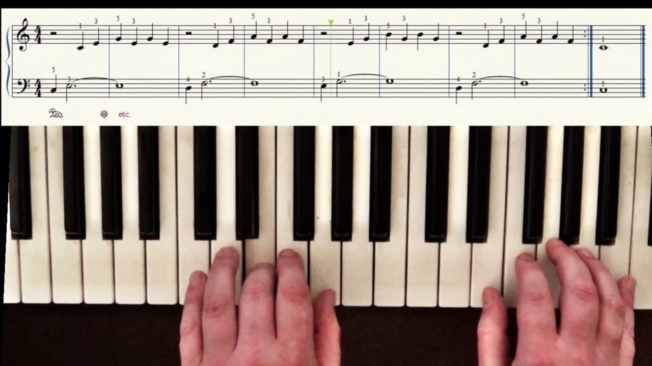 klavier spielen lernen lektion 7 tutorial in deutsch f r. Black Bedroom Furniture Sets. Home Design Ideas