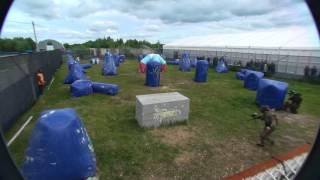 видео В Нефтеюганске прошли соревнования по пейнтболу