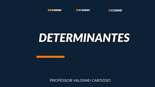 cálculo de determinante 2 x 2 pelo teorema de laplace