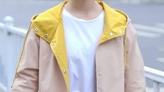 [해외직구] 2019 가을 신상 여성 후드 트렌치코트 …