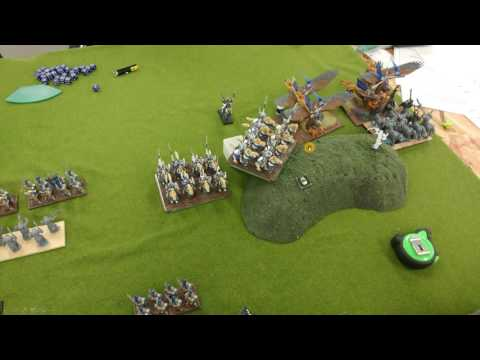 Abyssal Dwarfs vs. Elves Round Two 2000 points Orctoberbest Kings of War Tournament