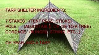 Open Front Tarp Tent