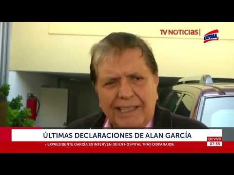 Últimas declaraciones de Alan García