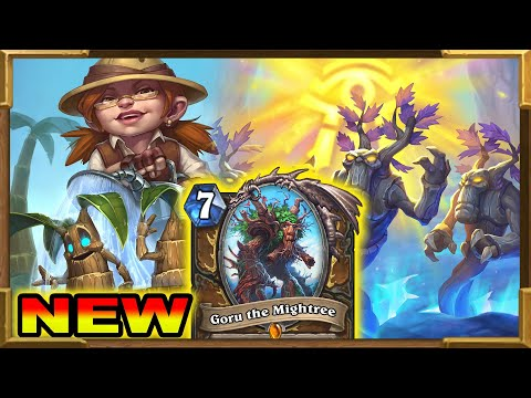 Hearthstone: New Token Treant Druid With Goru The Mightree And Aeroponics   Descent Of Dragons New