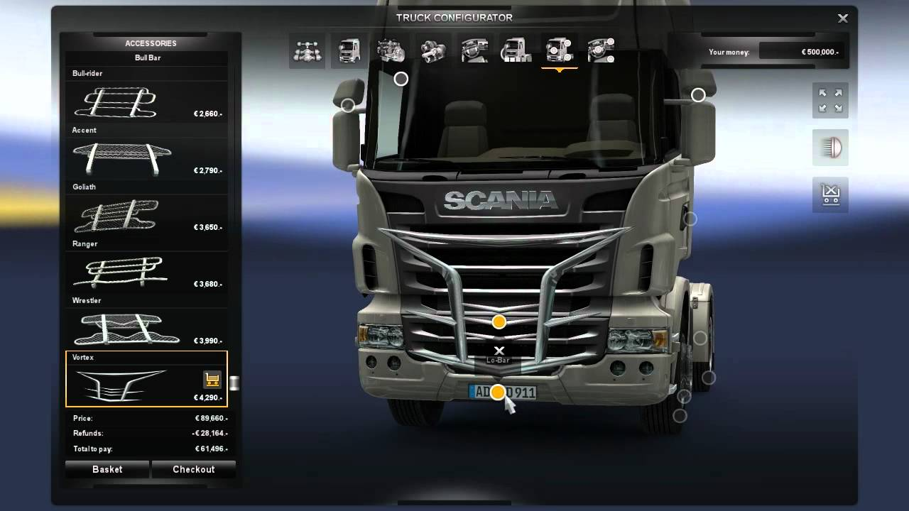 ETS2 Truck Customization - Scania R series - YouTube