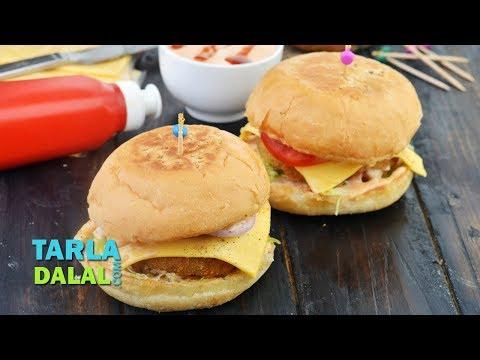 Aloo Tikki Burger by Tarla Dalal