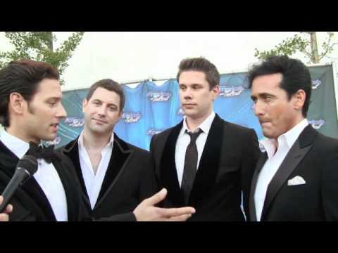 Il Divo America S Got Talent Backstage Interview 09 07 11 Youtube