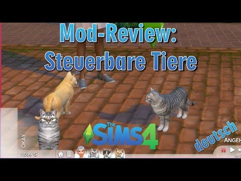 Sims 4 Mod Review Steuerbare Tiere Selectable Pets Youtube