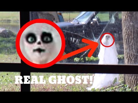 I FOUND A REAL LIFE HALLOWEEN GHOST! *It Kept Moving* OMG