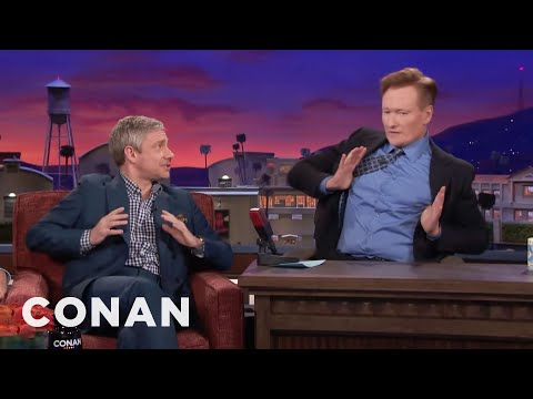 Martin Freeman Makes Conan Do His Terrible British Accent   CONAN on TBS