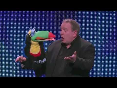 Australia's Got Talent 2013  Auditions  Darren Carr & Bird Flirt With Dawn