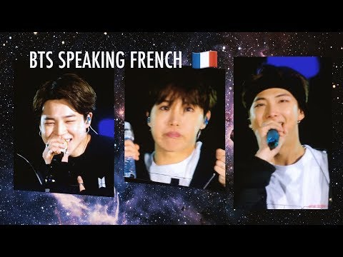 [ENG SUB] BTS speaking French І 20190607