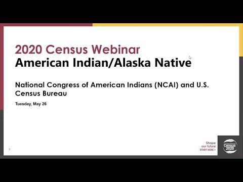 2020 Census Webinar: Census Bureau Roundtable Discussion
