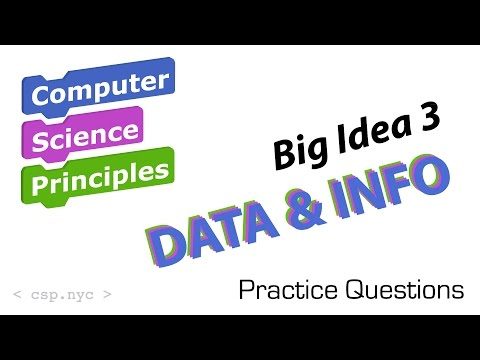 AP Computer Science - Big Idea 3 Data and Info - Questions