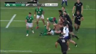 Ireland v New Zealand 2016 Simon Zebo Mighty Leap of Faith !