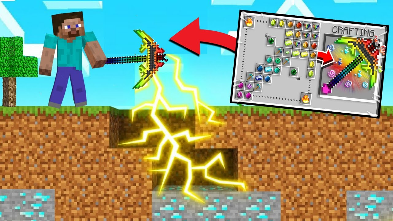 *NEW* POWERFULL PICKAXES in Minecraft!!