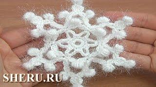 Crochet Snowflake Урок 24 Вязание крючком снежинки