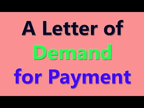A Letter of Demand for Payment