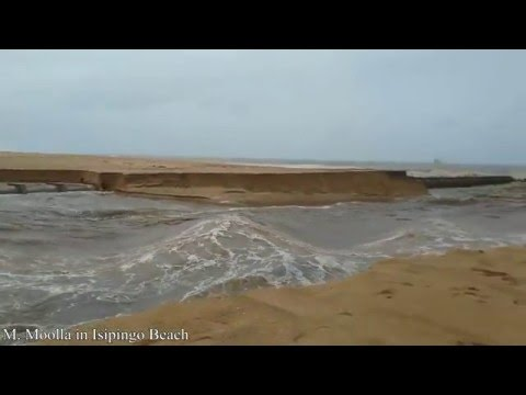 Durban Isipingo Beach Floods after heavy rains 08 May 2016