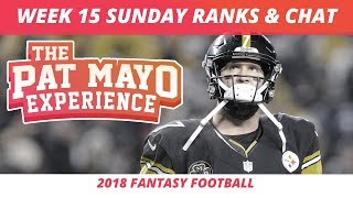 2018 Fantasy Football Rankings Update Live —Week 15 DraftKings Picks, Injuries & Viewer Chat