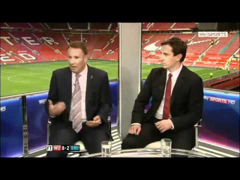 Manchester United Vs Arsenal 8-2 - Paul Merson & Gary Neville Reactions - August 28 2011 - [HQ]