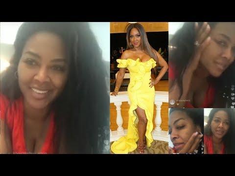 Happy: Kenya Moore On Pregnancy Kim Zolciak Vs. Marlon Wayans & Claps Back At Marlo On IG Live