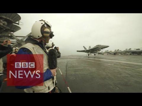USS George Washington: On board aircraft carrier - BBC News