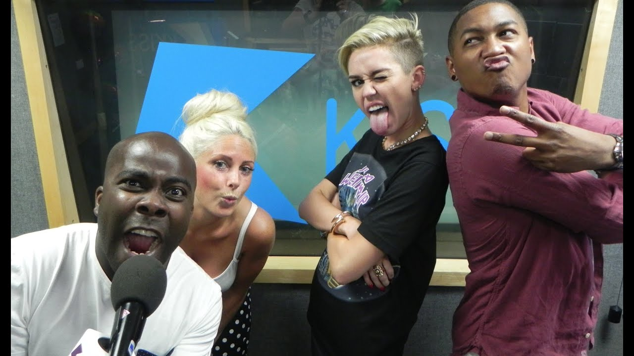 Miley Cyrus at KISS FM...