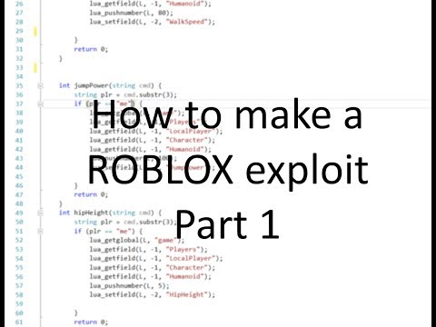 How to make a ROBLOX exploit from scratch. Part 1: the