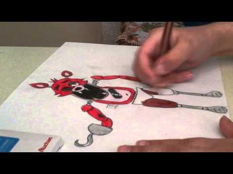 Как рисовать фокси из 5 ночей с фредди #2