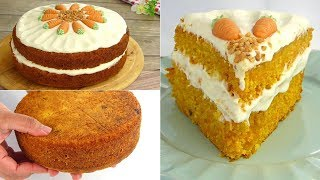 Soft & Moist Carrot Cake Recipe with Cream Cheese Frosting by Tiffin Box | Homemade Gajar ka cake
