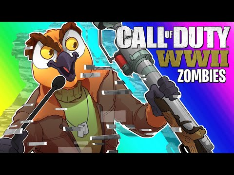 COD WW2 Zombies Funny Moments - Shadow Throne Easter Egg Attempt!