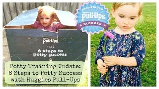 UPDATE: Potty training my 2 year old with Huggies Pull-Ups