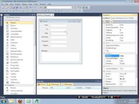 C# | Email Sender | C-Sharp Email Sender! |