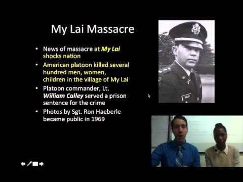 Lesson 34- Conflict Part 15- The Vietnam Anti-War movement and the Vietnam War ends
