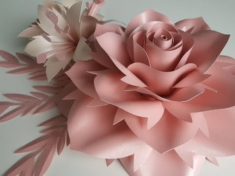 Rose paper flower tutorial. Template #10 Large Rose Tutorial. Diy Paper Rose Paper Flowers.