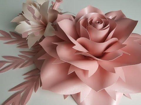 Rose paper flower tutorial. Template #10 Large Rose Tutorial. Diy Paper Rose Paper Flowers.