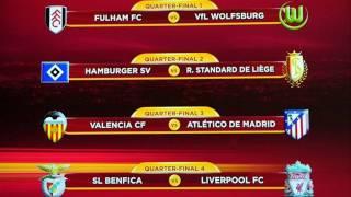 UEFA Europa League Draw UEFA Europa League Quarterfinal and Semifinal Draw