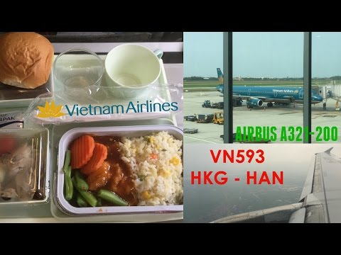Vietnam Airlines VN593 : Flying from Hong Kong to Hanoi