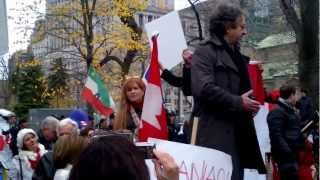Beryl Wajsman, Editor, The Suburban, 4th Nov 2012 - Rally Against Discrimination, Place du Canada